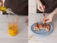 Gambas crujientes con dip de mango : Paso 2