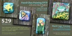Fused Glass Painting by Artist Mark Hufford Rock Videos, Glass Supplies, Fire Glass, Enamel Paint, Online Painting, Colored Glass, Glass Art, Miniatures, Ceramics