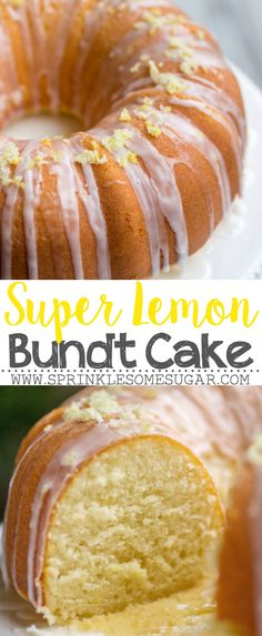Super Lemon Bundt Cake – The softest, lemon-packed cake on the face of the earth… - Cake Recipes Lemon Desserts, Köstliche Desserts, Lemon Recipes, Ww Recipes, Baking Recipes, Dessert Recipes, Grill Recipes, Lemon Bundt Cake, Lemon Cake Mixes