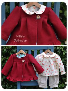Millie's Dollhouse... LOVE this little red coat!