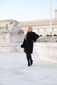 My Favorite Winter Coat - Lily Like Very Cold, Classic Style, My Style, Faux Fur Jacket, Makeup Inspo, Winter Coat, Different Styles, My Outfit, Raincoat