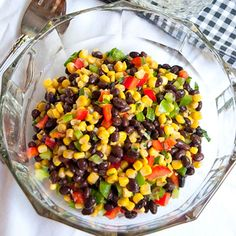 Low in fat, high in flavor, with a healthy dose of protein from the beans, this Black Bean and Corn Salad is a tasty side for a picnic.