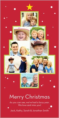 Picture Tree Christmas Card