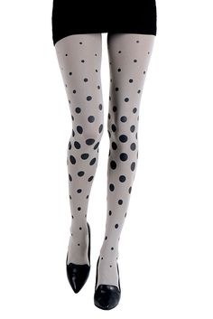 Miss Dota Polka Dot Patterned Tights Light Grey OneSize by Zohara Tights >>> Learn more by visiting the image link. Polka Dot Tights, Patterned Tights, Opaque Tights, Funky Tights, Polka Dot Print, Polka Dots, Tattoo Tights, Black Pantyhose, Nylons
