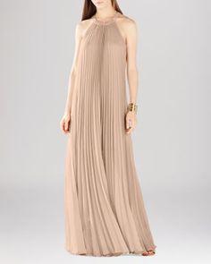 BCBGMAXAZRIA Meghen Pleated Gown | Bloomingdale's