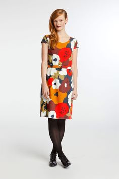Marimekko wool dress--over four hundred bucks. See the Improv Sewing book's wool jersey two-panel dress for a pretty darn close DIY version, for many fewer bucks...