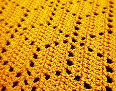 Crochet Baby Blanket by TheBabyCrow. Would make a nice Adult Blanket or Throw.
