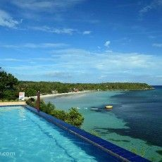 Beautiful Santiago Bay Resort in the Camotes Islands Philippines. One of the best views in the Philippines