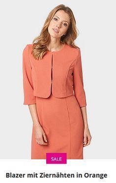 Erhältlich im onlineshop von bonita.de mit 8% Cashback für KGS Partner Kai, Peplum Dress, Blazer, Orange, Dresses, Fashion, Fashion Women, Vestidos, Moda