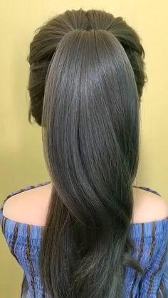 Bun Hairstyles For Long Hair, Cute Hairstyles, Braided Hairstyles, Wedding Hairstyles, Halloween Hairstyles, Hairstyles Videos, Beach Hairstyles, Ponytail Hairstyles Tutorial, Curly Hair