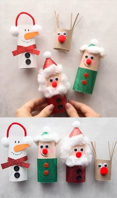 Christmas Toilet Paper, Toilet Paper Roll Crafts, Christmas Ornament Crafts, Xmas Crafts, Diy Christmas Gifts, Christmas Projects, Christmas Christmas, Christmas Cookies, Toilet Paper Rolls