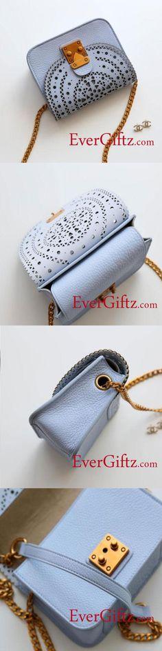 Genuine Leather Cute Purse Chain Crossbody Bag Shoulder Bag Phone Purse Bag