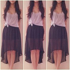 High low skirt. Not very desirable atm