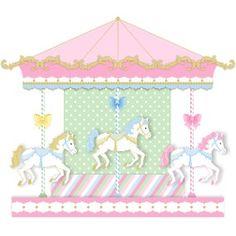 Kit Apliques Tema Carrossel Encantado Carousel Birthday Parties, Circus Birthday, Circus Theme, Circus Party, Girl Birthday, Horse Party Decorations, Tarjetas Diy, 1st Birthday Pictures, Baby Presents