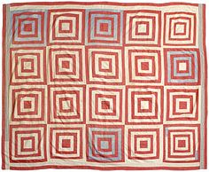 Log Cabin Variation Quilt| Featured quilt Benton County Historical Museum collection, Oregon, USA