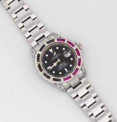 "Herrenarmbanduhr von Rolex sog. ""Submariner"", Superlative Chronometer, Oyster Perpetual Date. Stahl. — Uhren"