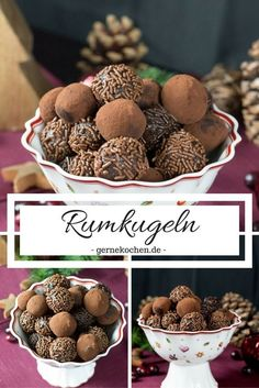 Rum balls recipe: - Old family recipe - gernekochen.de- Rum balls according to an old family recipe: it doesn't get any more chocolatey. Delicious Cake Recipes, Yummy Cakes, Dessert Recipes, Rum Balls, Christmas Desserts, Christmas Baking, Christmas Recipes, Christmas Chocolates, Xmas Cookies