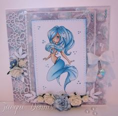 My Little Space on the World Wide web Cat Whiskers, Digi Stamps, Kind, Mermaids, Sassy, Card Ideas, Fantasy, Pearls, Space