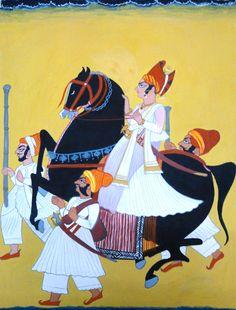 Copy Painting: Indian Miniature Gouache