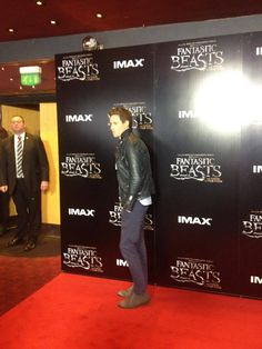 "redbatchedcumbermayned: ""Eddie Redmayne arrives at the Q&A for Fantastic Beasts """