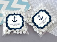 Nautical Baby Shower Clear Candy Bags (Set of 24)