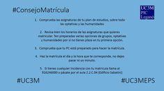Mañana comienza la matrícula de antiguos alumnos de Grado #uc3m de Leganés, os dejamos unos consejos