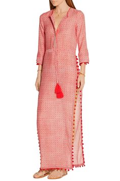 Tomato-red and white cotton and silk-blend voile Concealed button fastenings along front cotton, silk Dry clean Designer color: Saffron Imported Pakistani Dresses, Indian Dresses, Indian Outfits, Ethnic Fashion, Hijab Fashion, Indian Fashion, Mode Abaya, Mode Hijab, Kurti Patterns