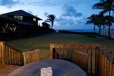 Waiting for the stars to come out on the back deck on Kuau, Point Maui