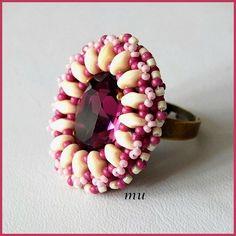 beaded ring - mu