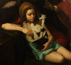 Cuban-American painter Cesar Santos recreates iconic paintings with a contemporary twist for his series known as Syncretism. His intriguing works simultane