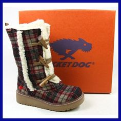 Rocket Dog Blazer Boots Size 4, 5, 6, Edinburgh Plaid Natural | Brand New Boxed | eBay