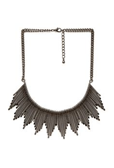 Traveler Fan Bib Necklace | FOREVER21 #Accessories #Necklace