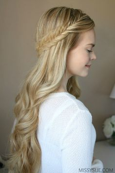 3 Spring Hairstyles, three Spring Hairstyles half-up-fishtail-french-braid-tutorial-spring-hairstyle half-up-fishtail-french-braid-tutorial-spring-hairstyle. Spring Hairstyles, Party Hairstyles, Trendy Hairstyles, Wedding Hairstyles, Teenage Hairstyles, Braided Hairstyles Tutorials, Braid Hairstyles, Hairstyle Ideas, Braid Tutorials