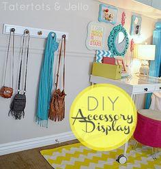Tatertots & Jello - DIY Accessory Display
