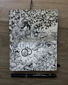 Creative artist Kerby Rosanes, an illustrator based in Manila, Philippines. Kerby Rosanes uses ink primarily in their drawings. For more drawings →View Website Sketchbook Inspiration, Art Sketchbook, Pen Sketch, Art Sketches, Ink Illustrations, Illustration Art, Black Ink Art, Arte Indie, Ink Pen Drawings
