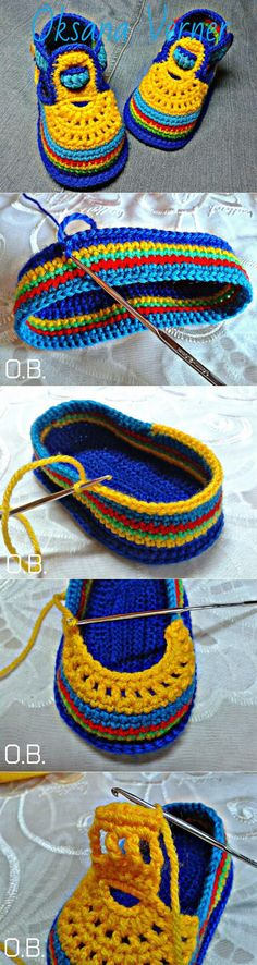 Crochet Baby Booties Slippers for Spring and Crib Walkers, Easy Quick Crochet Gifts for Baby girl and boy Booties Crochet, Crochet Baby Boots, Crochet Baby Sandals, Crochet Gloves, Crochet Slippers, Knit Crochet, Knit Baby Shoes, Baby Booties, Baby Slippers