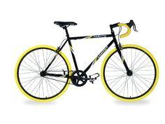 Takara Kabuto Single Speed Road Bike (57cm Frame) (016751027821) Single-speed commuter road bike with 57-centimeter center top tube Rear Flip Flop Hub for fixed gear or freewheel Tig-welded steel frame and fork