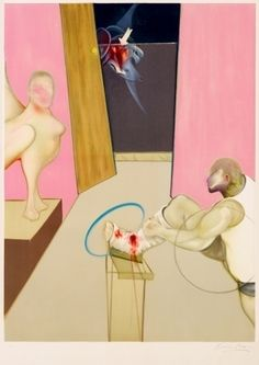 Francis Bacon - Oedipe and the Sphinx after Ingres