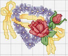 corazon en punto de cruz | Aprender manualidades es facilisimo.com