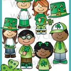 The Saint Patrick's Day Kids clip art set contains 16 image files, which includes 8 color images and 8 black & white images in png and jpg. All... $5.30