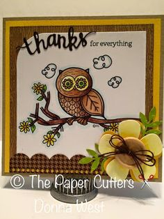 cute card by dt member Donna using Nature Owl doodle #digitalstamps #cardmaking #papercrafts #scrapbooking