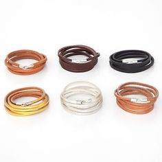 Kristine Wong Chong: Leather Wrap Bracelets with Stainless Steel Hook