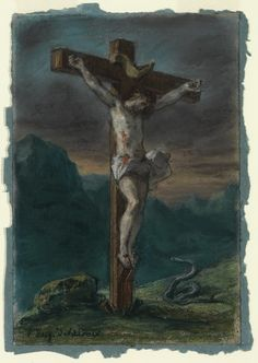 Eugene Delacroix, Christ on the Cross on ArtStack #eugene-delacroix #art