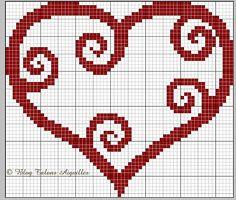 Grille gratuite du lundi : Rouge-coeur - Le blog de vava