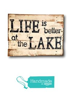 Homemade Wood Signs, Diy Wood Signs, Pallet Signs, Camp Signs, Wooden Signs With Sayings, Cabin Decorating, Lake Decor, Lake Art, Handmade Signs
