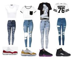 """""""SLAYY BESTIE"""" by mynameisyaya ❤ liked on Polyvore featuring NIKE, Boohoo, Topshop, Juun.j and WithChic"""