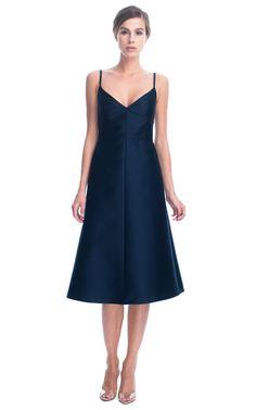Valentino Mikado V-Neck Dress at Moda Operandi