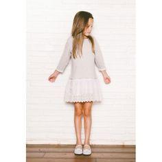 Dress Broderie Stripes - Bonnet à Pompon - Online Kids - Goldfish.be