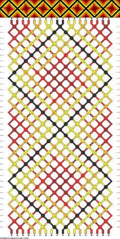 18 strings, 36 rows, 5 colors  #23259 - friendship-bracelets.net