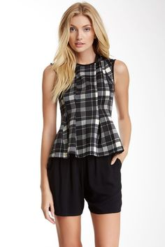 Lily White Printed Peplum Blouse (Juniors) by Assorted on @HauteLook